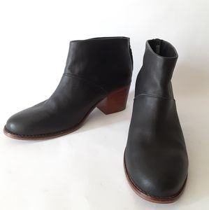 TOMS Leila leather tassel boots